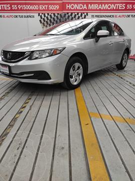 Honda Civic LX 1.8L usado (2014) color Plata Diamante precio $190,000