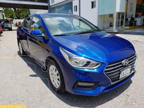 Hyundai Accent 4 pts. GL MID, 1.6l, TM6, a/ac., VE del., camar usado (2018) color Azul precio $215,000