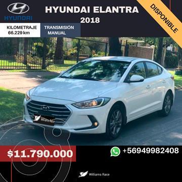 Hyundai Elantra 1.6L GLS usado (2018) color Blanco precio $11.790.000