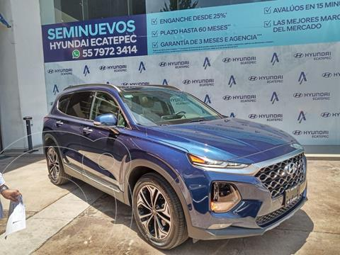 Hyundai Santa Fe Limited Tech usado (2019) color Azul Marino precio $520,000