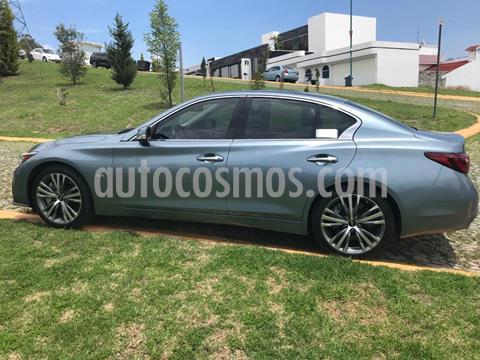 Infiniti Q50 400 Sport usado (2018) color Azul Cielo precio $555,000