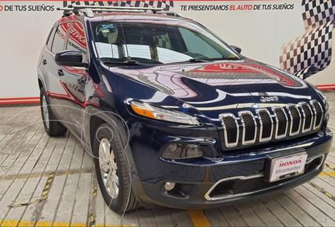 Jeep Cherokee Limited usado (2016) color Azul Real financiado en mensualidades(enganche $170,000 mensualidades desde $4,864)