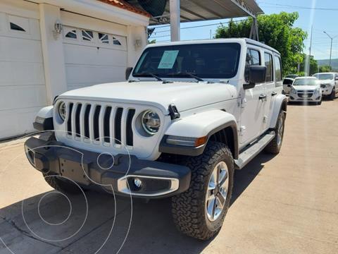 Jeep Wrangler Unlimited Unlimited Sahara 4x4 3.6L Aut usado (2018) color Blanco precio $795,000