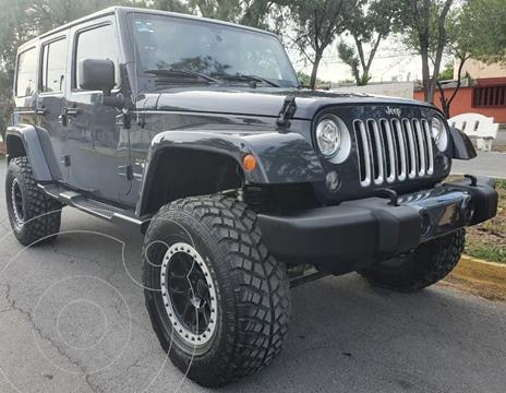 Jeep Wrangler Unlimited Unlimited JK Sahara 4x4 3.6L Aut usado (2018) color Gris financiado en mensualidades(enganche $263,950 mensualidades desde $29,046)