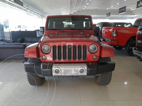 Jeep Wrangler Sahara 4x4 3.6L Aut  usado (2013) color Rojo precio $450,000