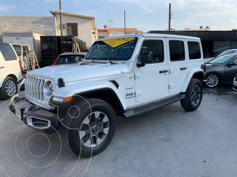 Jeep Wrangler Sahara 4x4 3.6L Aut usado (2019) color Blanco precio $925,800