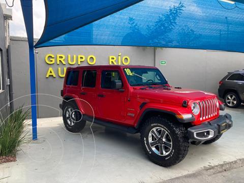 Jeep Wrangler Sahara 4x4 3.6L Aut usado (2019) color Rojo precio $879,000