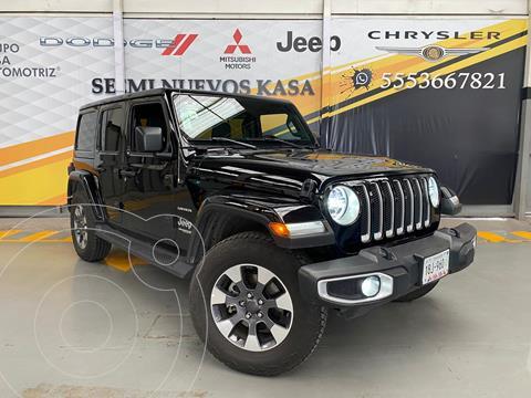 Jeep Wrangler Sahara 4x4 3.8L Aut usado (2021) color Negro precio $999,000