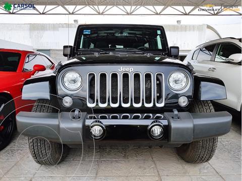 Jeep Wrangler Sahara 4x4 3.6L Aut usado (2017) color Negro precio $669,000