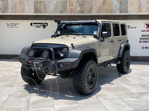 Jeep Wrangler Sahara 4x4 3.8L Aut usado (2018) color Cafe precio $800,000
