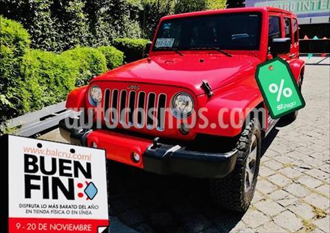 Jeep Wrangler Unlimited Unlimited Sahara 4x4 3.6L Aut usado (2017) color Rojo precio $698,000