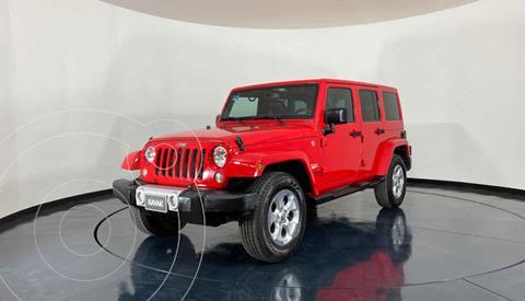 Jeep Wrangler Unlimited JK Sahara 4x4 3.6L Aut usado (2015) color Rojo precio $643,999