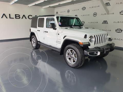 Jeep Wrangler Sahara 4x4 3.8L Aut usado (2018) color Blanco precio $849,900
