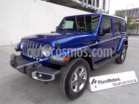 Jeep Wrangler Sahara 4x4 3.6L Aut usado (2019) color Azul precio $829,000