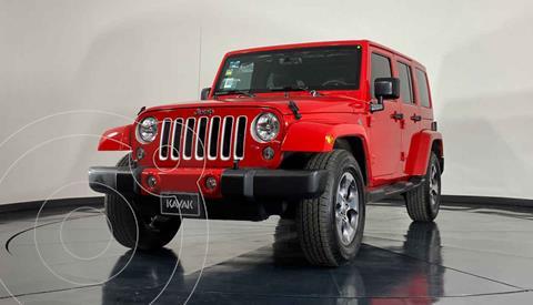 Jeep Wrangler Unlimited Sahara 4x4 3.6L Aut usado (2016) color Rojo precio $664,999