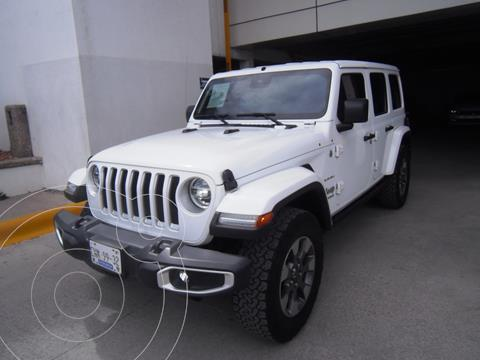 Jeep Wrangler Unlimited Sahara 4x4 3.6L Aut usado (2019) color Blanco precio $849,000