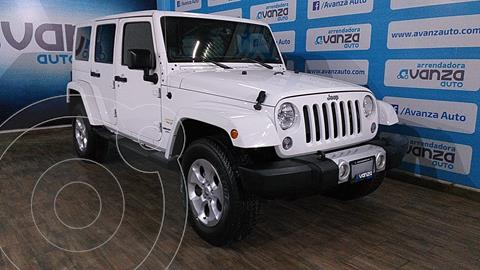Jeep Wrangler Unlimited Sahara 4x4 3.6L Aut usado (2014) color Blanco precio $560,000