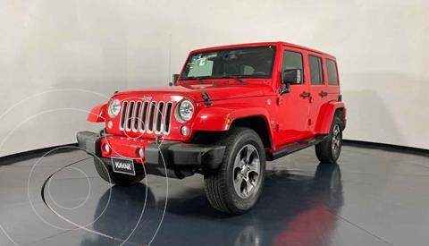 Jeep Wrangler Unlimited Sahara 4x4 3.6L Aut usado (2016) color Rojo precio $592,999