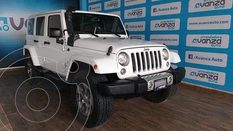 Jeep Wrangler Sahara 4x4 3.6L Aut usado (2017) color Blanco precio $650,000
