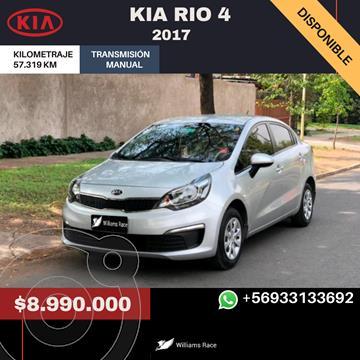 Kia Rio 4 1.4L EX Full  usado (2017) color Gris Urbano precio $8.990.000