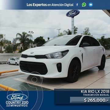 Kia Rio Sedan LX usado (2018) color Blanco precio $265,000
