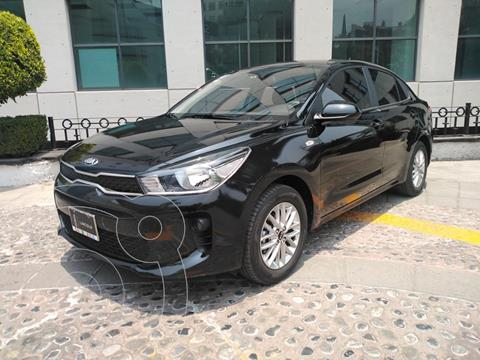 Kia Rio Sedan LX usado (2020) color Negro Perla financiado en mensualidades(enganche $65,000)