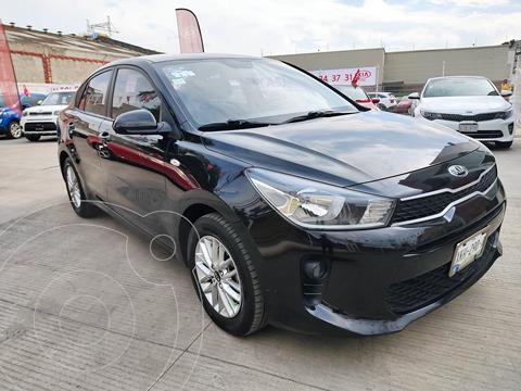 Kia Rio Sedan LX Aut usado (2018) color Negro precio $185,000