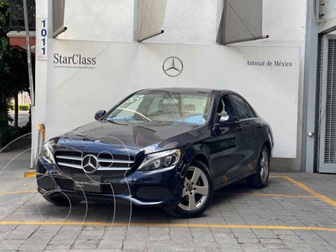 Mercedes Clase C 180 Aut usado (2018) color Azul precio $410,000