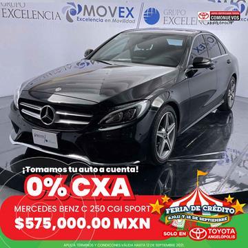 Mercedes Clase C 250 CGI Sport Aut usado (2018) color Negro precio $575,000