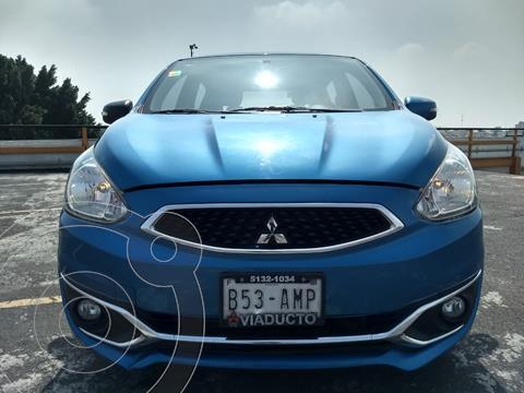 Mitsubishi Mirage GLS usado (2017) color Azul financiado en mensualidades(enganche $33,000 mensualidades desde $3,238)