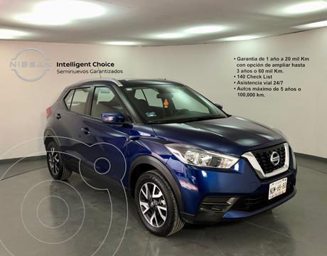 Nissan Kicks Sense usado (2020) color Azul precio $330,000