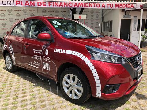 Nissan March Advance Aut usado (2021) color Rojo precio $260,000