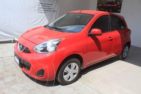 Nissan March Sense Aut usado (2018) color Rojo precio $175,000