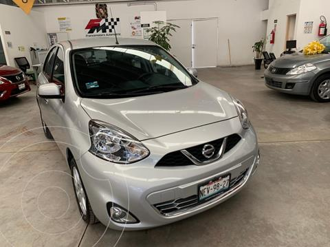 Nissan March Advance usado (2018) color Plata financiado en mensualidades(enganche $34,622 mensualidades desde $3,318)