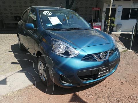 Nissan March Sense  Aut usado (2020) color Azul Electrico precio $215,000