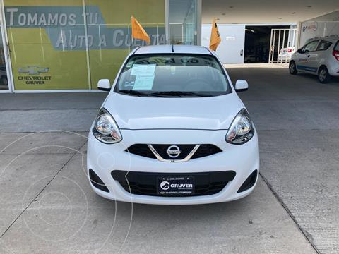 Nissan March Sense Aut usado (2020) color Blanco precio $205,000
