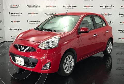 Nissan March Advance usado (2015) color Rojo financiado en mensualidades(enganche $27,000 mensualidades desde $3,821)