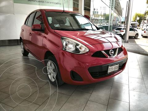 Nissan March Sense usado (2019) color Rojo financiado en mensualidades(enganche $38,157 mensualidades desde $5,059)