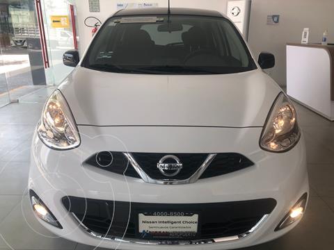 Nissan March Exclusive Bi-tono usado (2020) color Blanco precio $244,000
