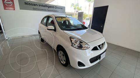 Nissan March Sense usado (2018) color Blanco precio $199,000