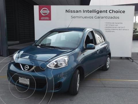 Nissan March Sense Aut usado (2019) color Turquesa precio $189,000