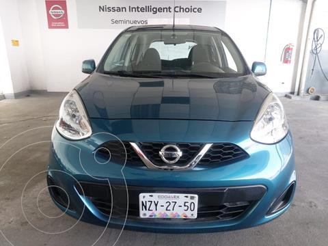 Nissan March Sense usado (2015) color Turquesa precio $120,000