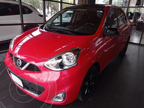 Nissan March Exclusive Aut usado (2019) color Rojo precio $198,000