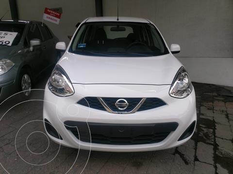 Nissan March Sense Aut usado (2020) color Blanco precio $215,000