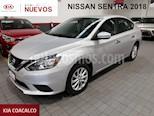 Foto venta Auto usado Nissan Sentra 4p Sense L4/1.8 Aut (2018) color Plata precio $219,000