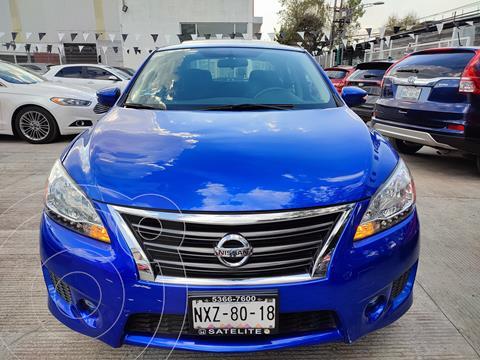 Nissan Sentra SR Aut NAVI usado (2016) color Azul Electrico precio $188,000