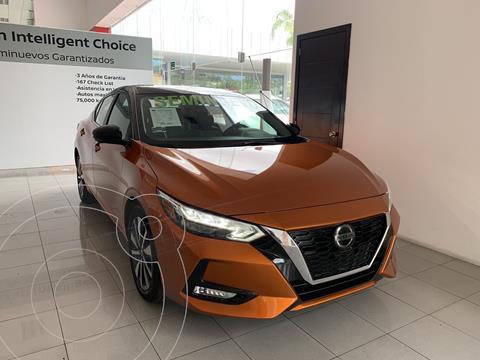 Nissan Sentra Exclusive Bi-tono Aut usado (2020) color Naranja precio $455,000