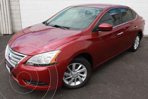 Nissan Sentra Sense Aut usado (2016) color Rojo precio $195,000