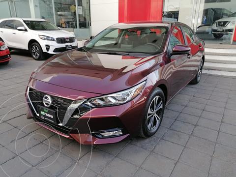 Nissan Sentra Advance usado (2020) color Rojo Merlot precio $413,000