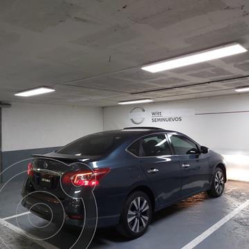 Nissan Sentra Exclusive NAVI Aut usado (2018) color Azul precio $250,000